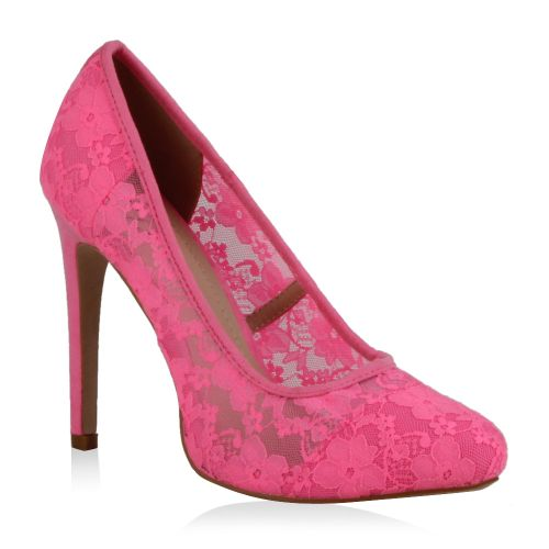 Damen Pumps High Heels - Pink