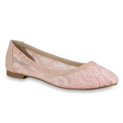 Damen Ballerinas Klassische Ballerinas - Rosa - Grapeland