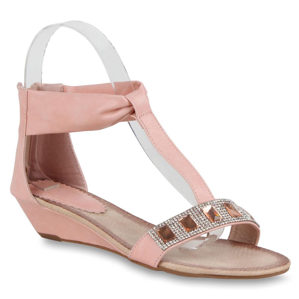 Damen Sandaletten Keil Sandaletten - Rosa - Rowland