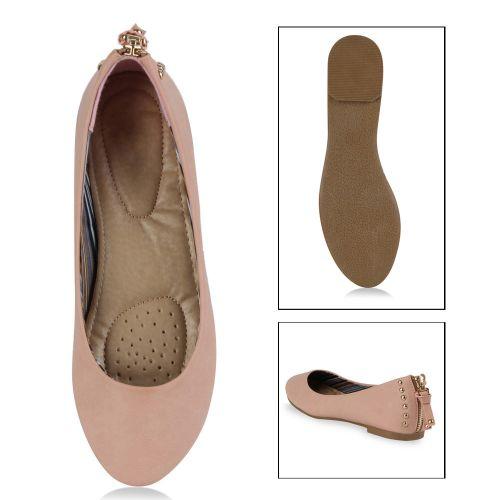 Damen Ballerinas Klassische Ballerinas - Rosa - Balmaseda