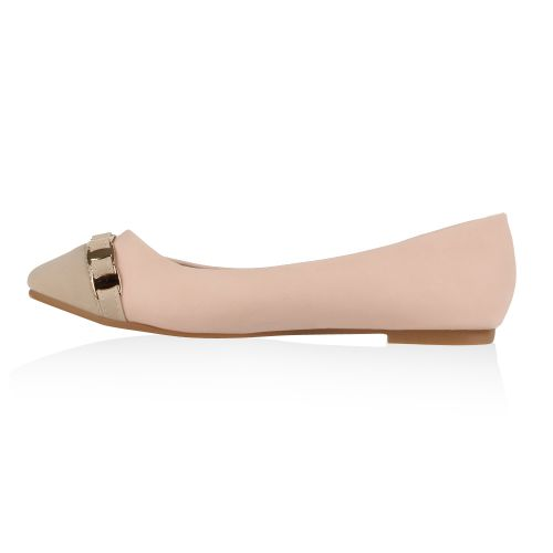 Damen Ballerinas Klassische Ballerinas - Rosa - Long Hill