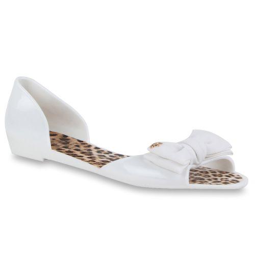 Damen Sandalen Badesandalen - Weiß