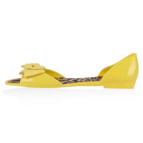 Damen Sandalen Badesandalen - Gelb