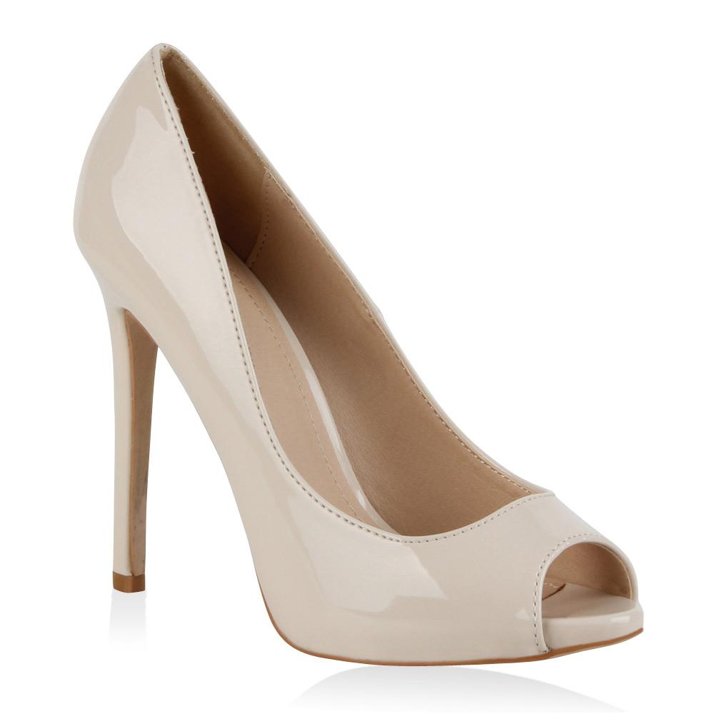 Damen Pumps High Heels - Nude