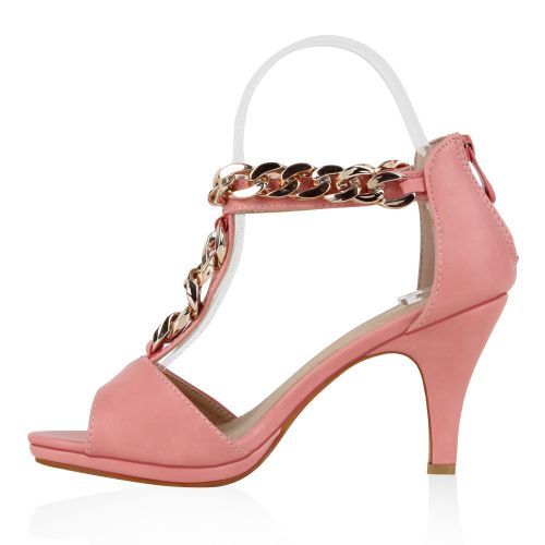 Damen Sandaletten High Heels - Rosa - Harrah