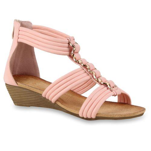 Damen Sandaletten Keil Sandaletten - Rosa - Hamptonburgh