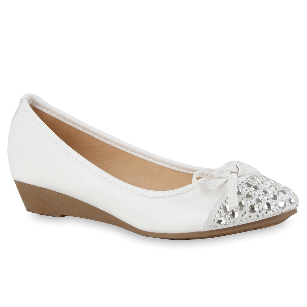 Damen Pumps Keilpumps - Weiß