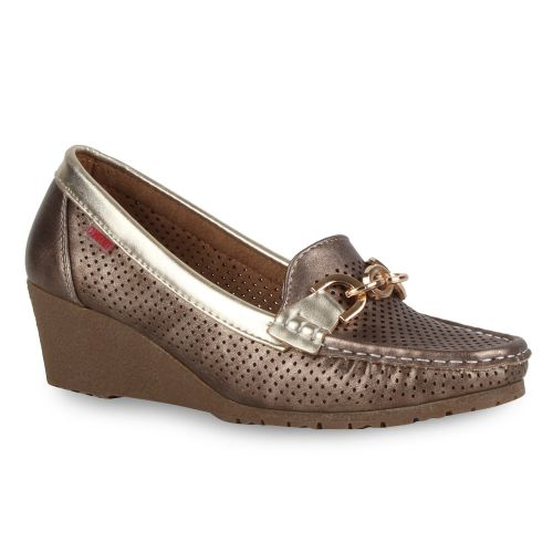 Damen Pumps Keilpumps - Bronze