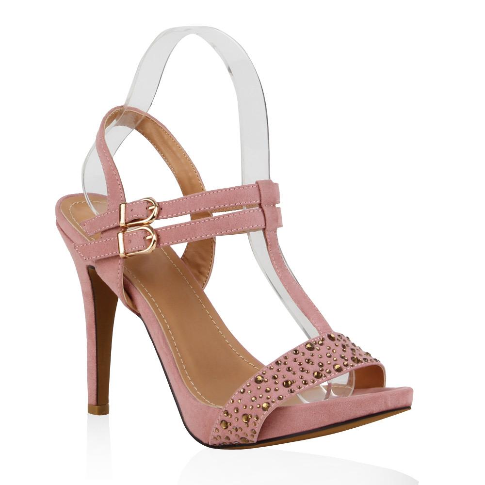 Damen Sandaletten High Heels - Rosa - Mimizan