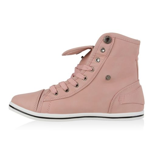 Damen Sneaker high - Rosa