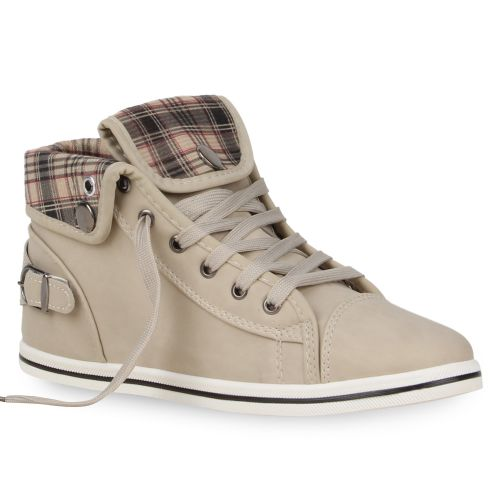 Damen Sneaker high - Creme
