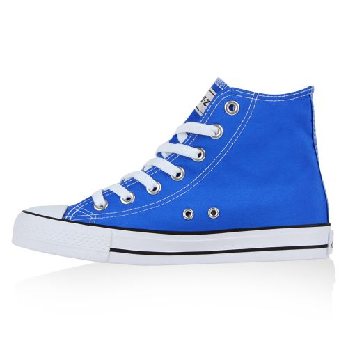 Damen Sneaker high - Neon Blau