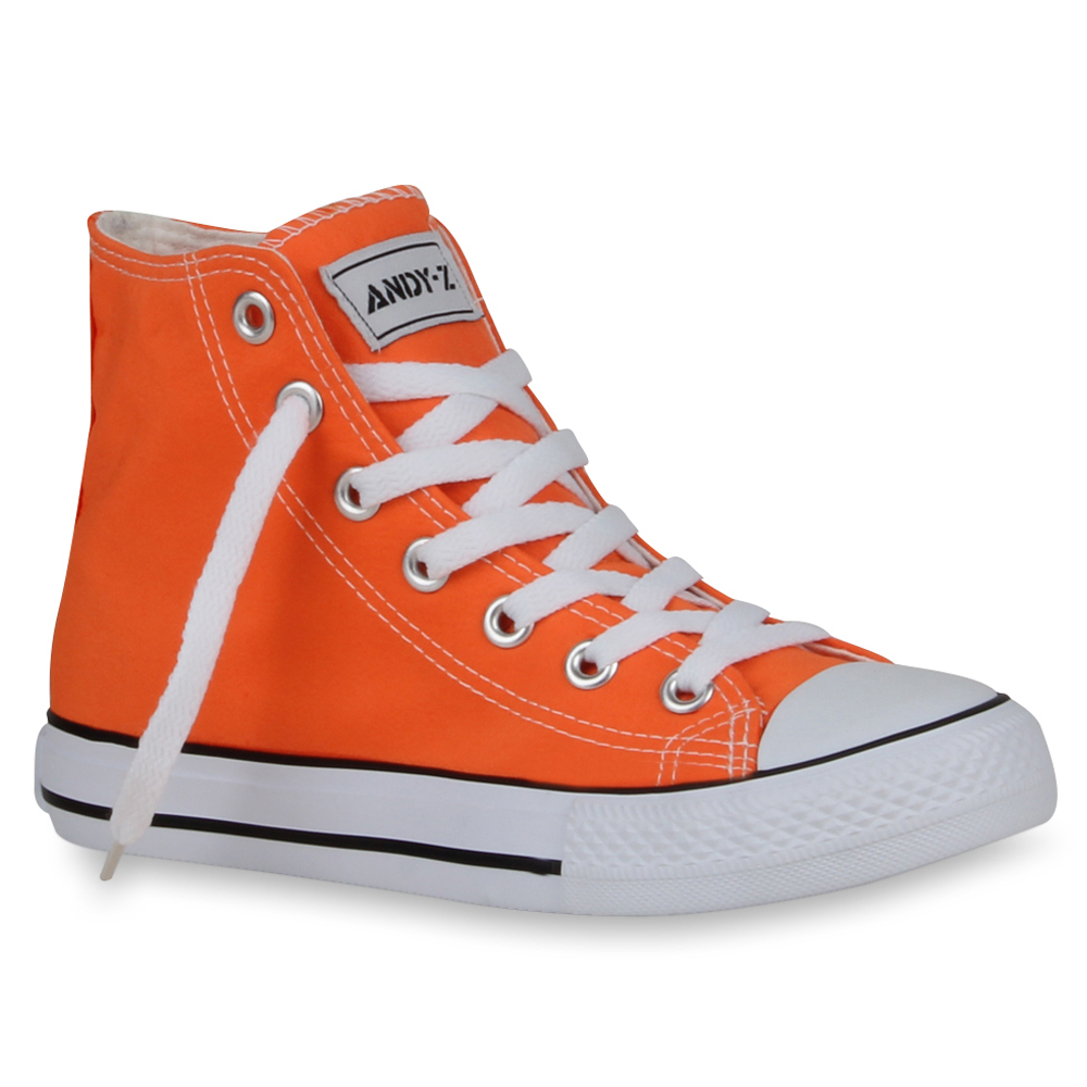 Damen Sneaker high - Neonorange