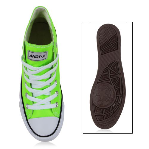 Damen Sneaker high - Neongrün