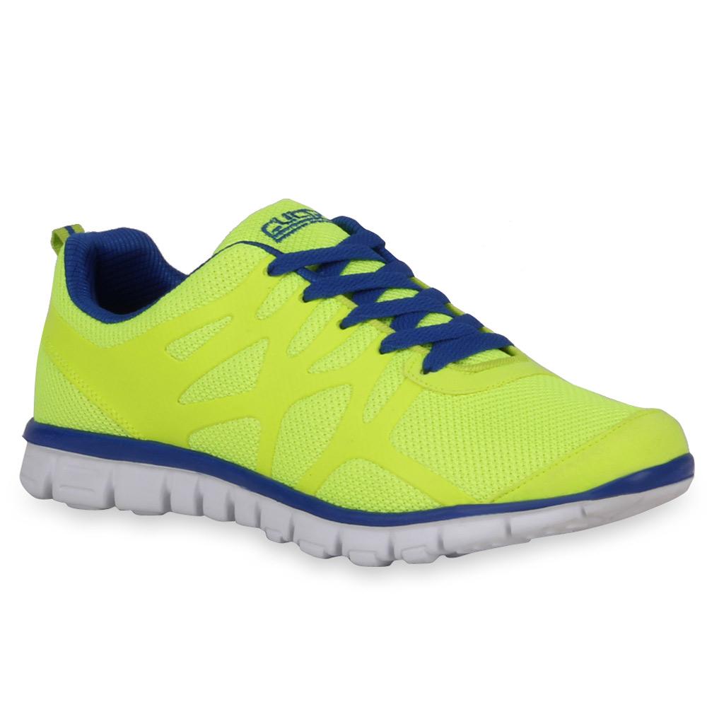 Herren Sportschuhe Laufschuhe - Neongelb Blau