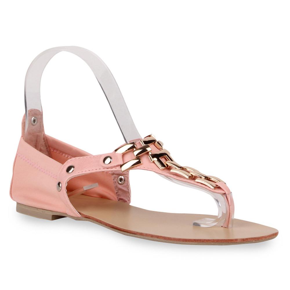 Damen Sandalen Zehentrenner - Rosa - Algood