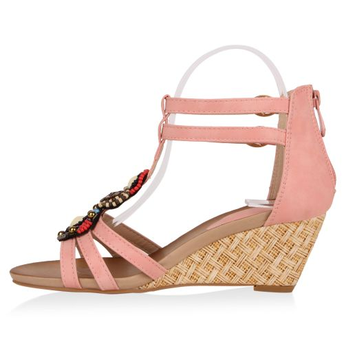 Damen Sandaletten Keil Sandaletten - Rosa - Peterlee