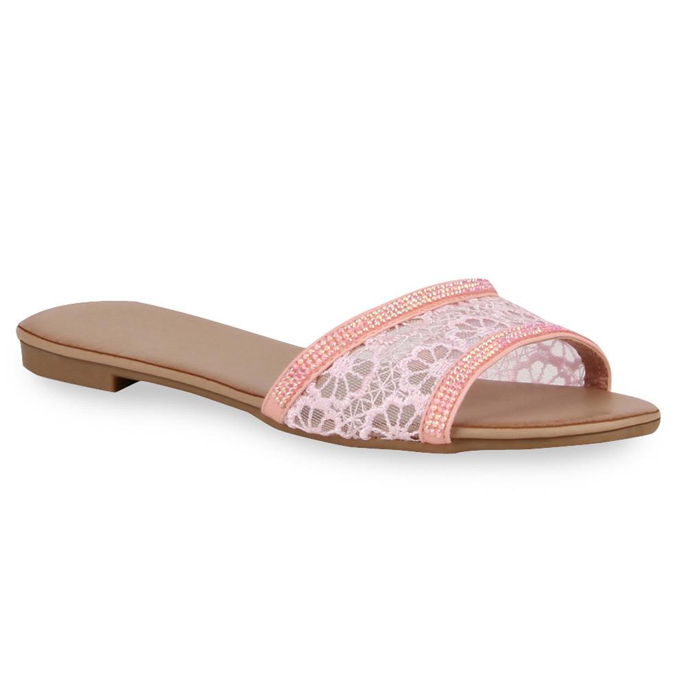 Damen Sandalen Pantoletten - Rosa - Cambres