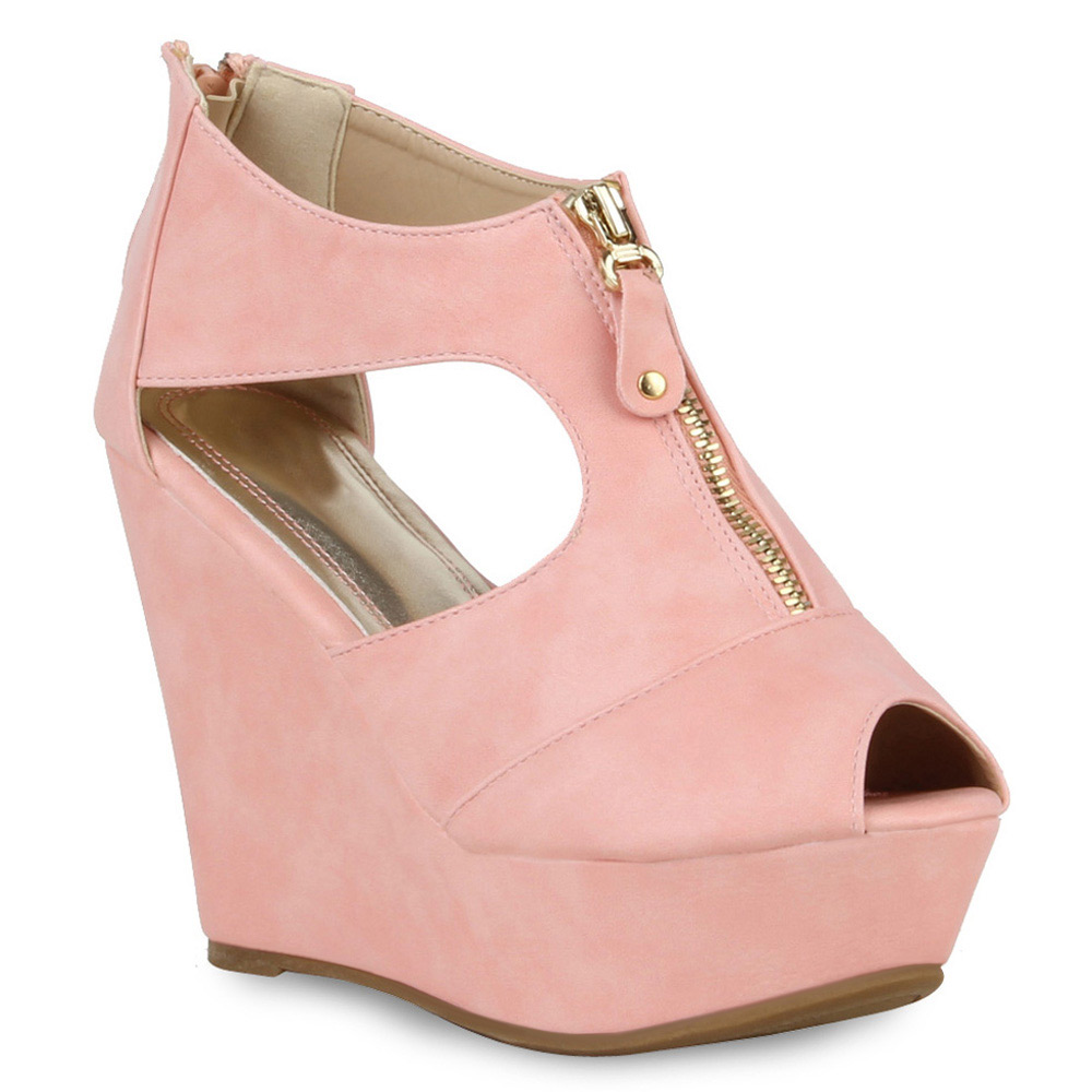 Damen Pumps Plateau Pumps - Rosa - Elizabethville