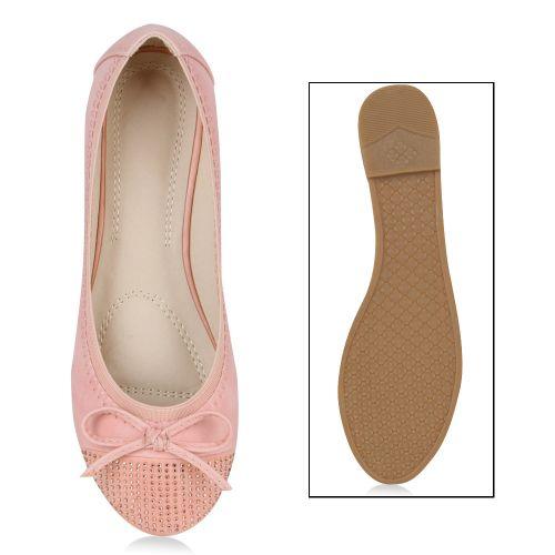 Damen Ballerinas Klassische Ballerinas - Rosa - Dayton