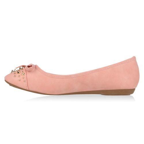 Damen Ballerinas Klassische Ballerinas - Rosa - Hartsdale