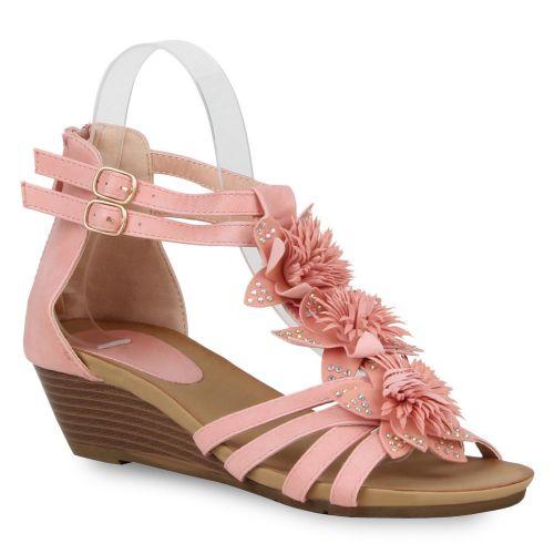 Damen Sandaletten Keil Sandaletten - Rosa - Maiorca