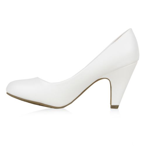 Damen Pumps High Heels - Weiß