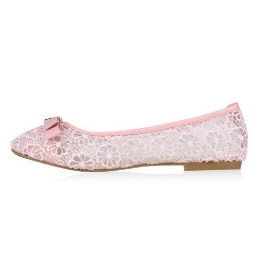 Damen Ballerinas Klassische Ballerinas - Rosa - Avize