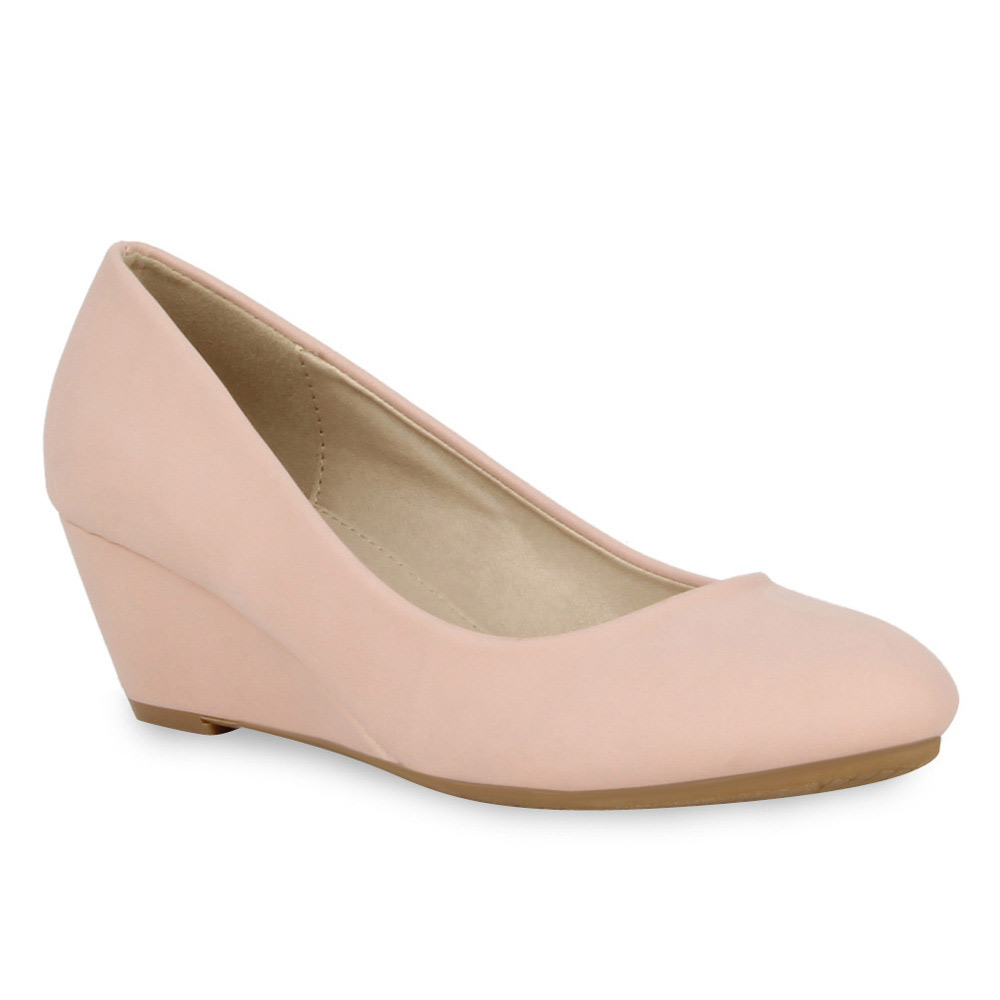Damen Pumps Keilpumps - Rosa - Brewster