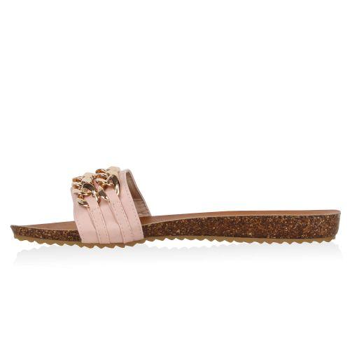 Damen Sandalen Pantoletten - Rosa - Middleton