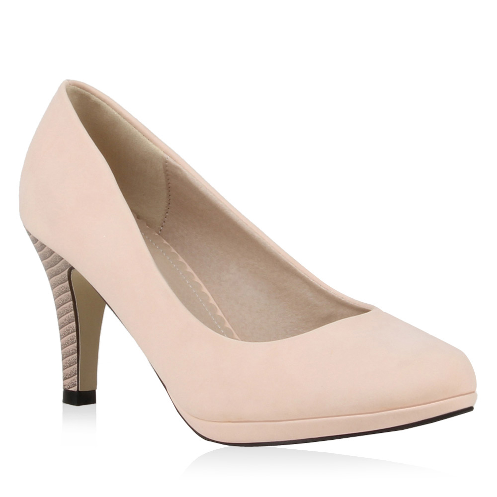 Damen Pumps High Heels - Rosa - Bunnell
