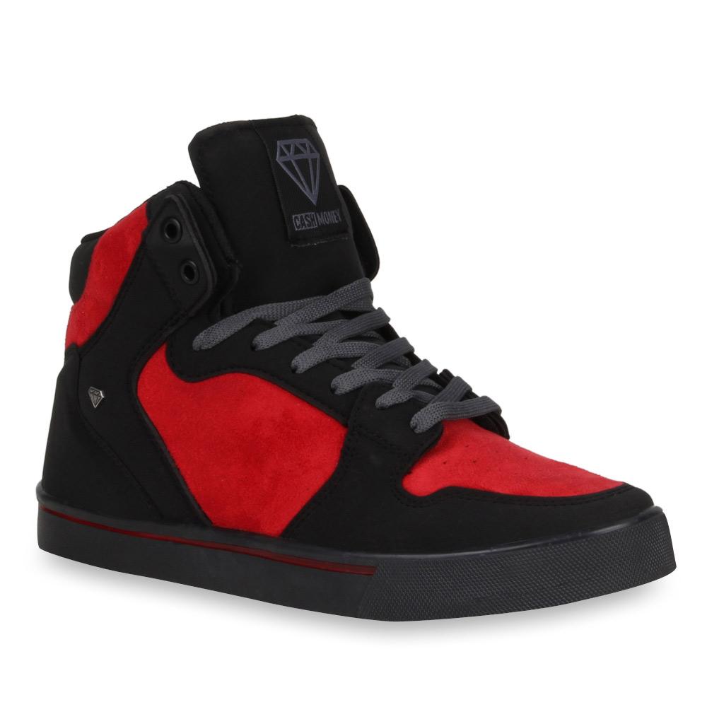 herren sneaker in schwarz rot 72074 1175. Black Bedroom Furniture Sets. Home Design Ideas