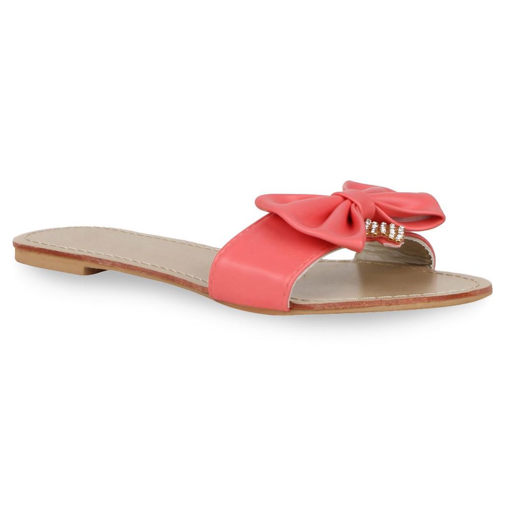 Damen Sandalen Pantoletten - Coral