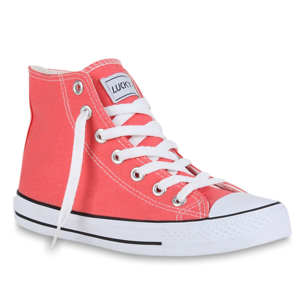 Damen Sneaker high - Silber Rot