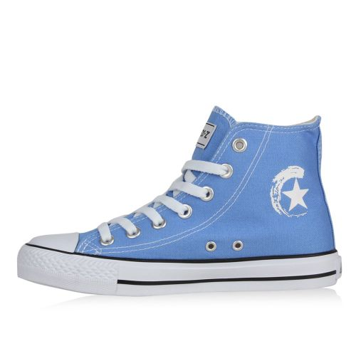 Damen Sneaker high - Hellblau