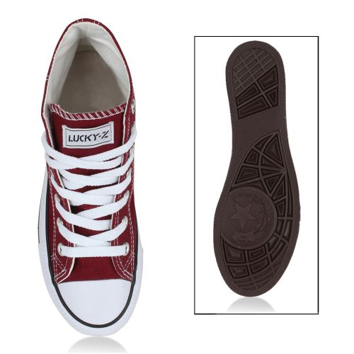 Damen Sneaker high - Dunkelrot