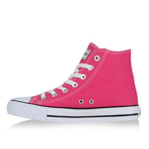 Damen Sneaker high - Neonpink