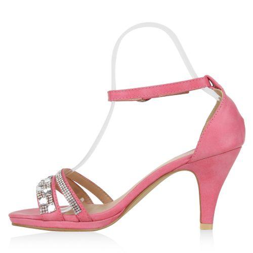 Damen Sandaletten High Heels - Pink