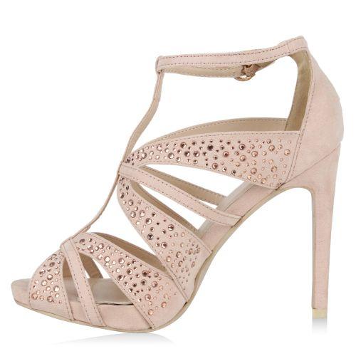 Damen Sandaletten High Heels - Rosa - Walpole