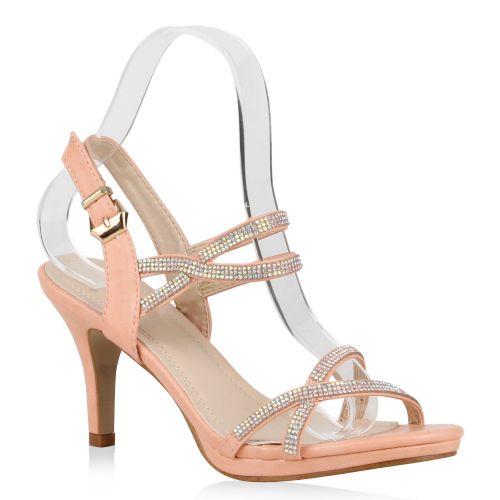 Damen Sandaletten Riemchen Sandaletten - Rosa - Monroe