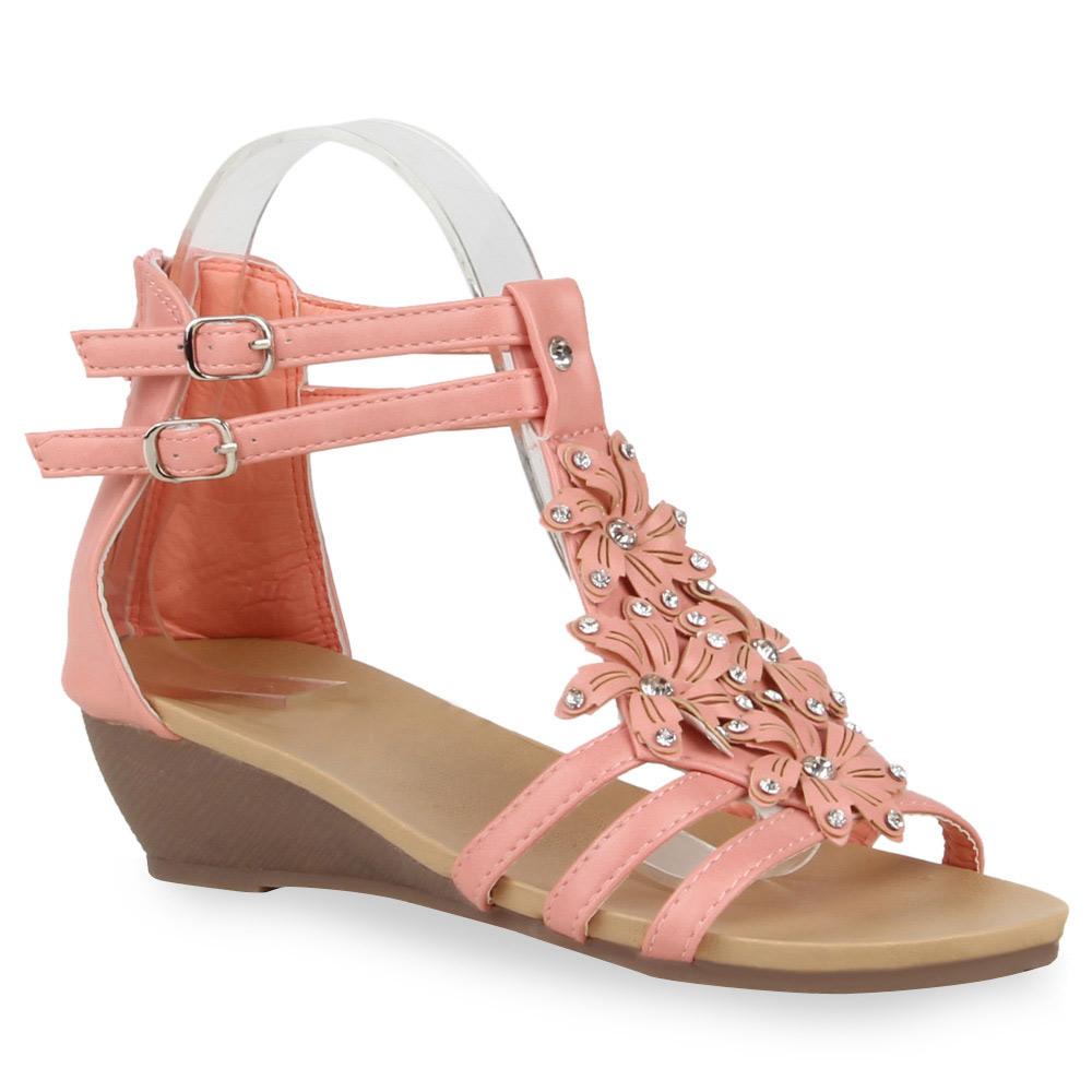 Damen Sandaletten Riemchen Sandalen - Rosa - Yale
