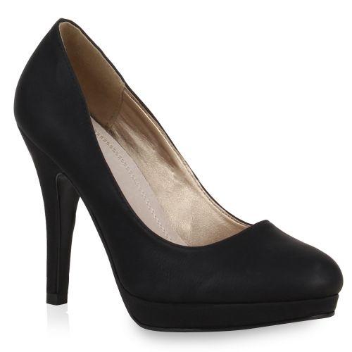 Damen Pumps High Heels - Schwarz