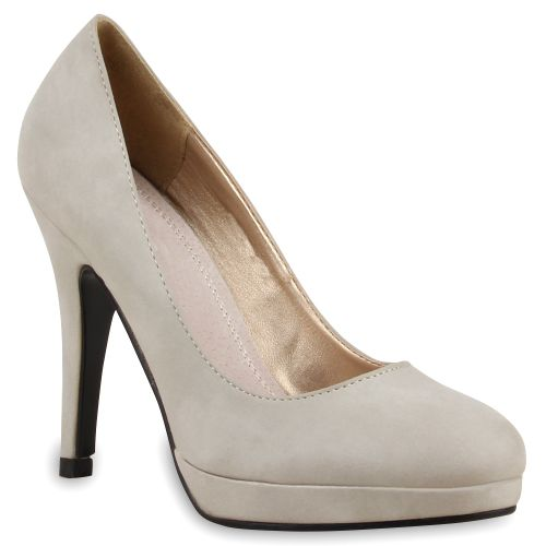 Damen Pumps High Heels - Grau