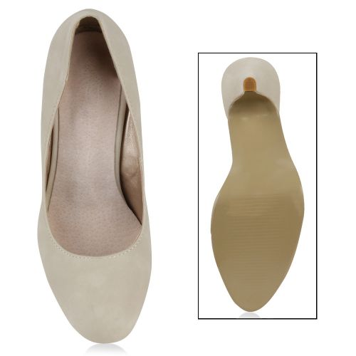 Damen Pumps High Heels - Nude