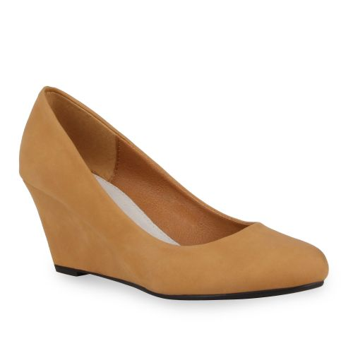 Damen Pumps Keilpumps - Hellbraun