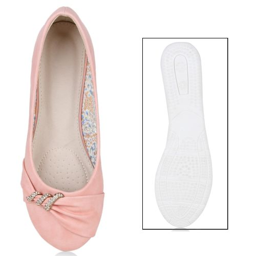 Damen Ballerinas Klassische Ballerinas - Rosa - Hargill