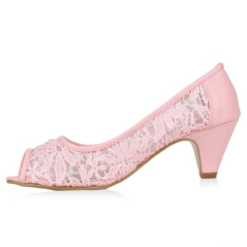 Damen Pumps Peeptoes - Rosa - Hill City