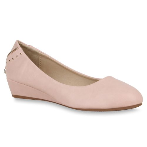 Damen Pumps Keilpumps - Rosa - Great River