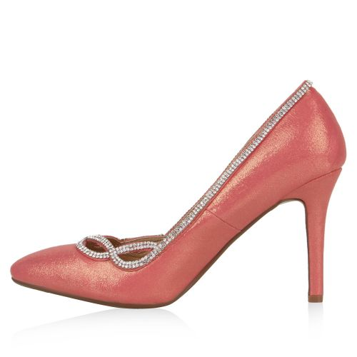 Damen Pumps High Heels - Rosa - Carora