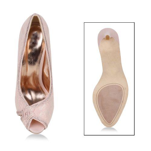 Damen Pumps High Heels - Rosa - Abrams